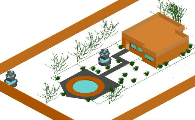House 3 d detail dwg file