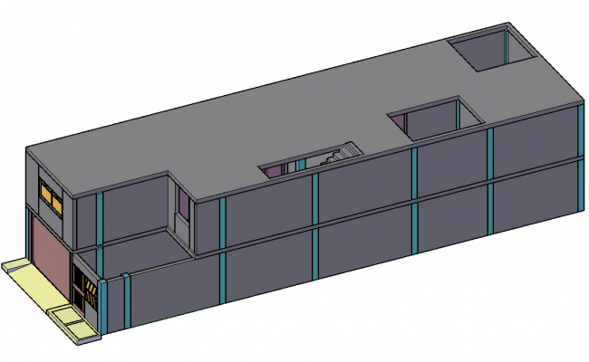 House 3 d plan detail dwg file