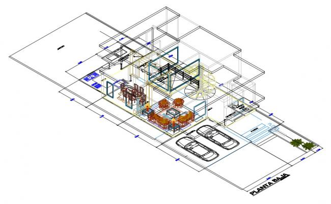 House 3d Model CAD Drawings