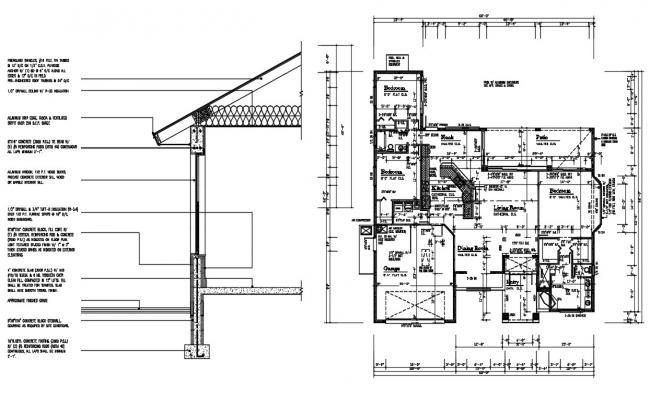 House Architecture CAD Plan