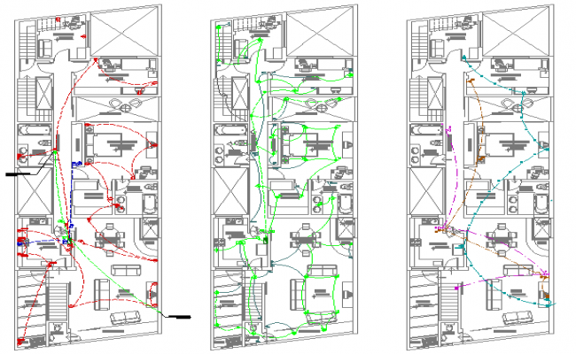 House Architecture Plan and Elevation Design dwg file
