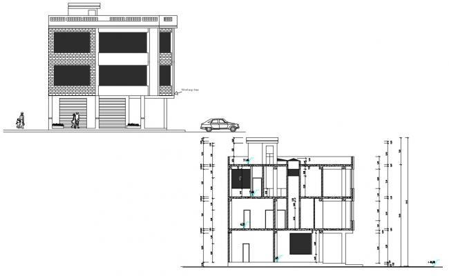 House Building Design AutoCAD File