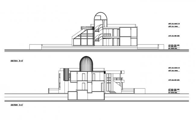 House Building Section CAD Drawing