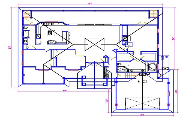 House CAD plan design