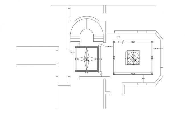 House Ceiling Design DWG File