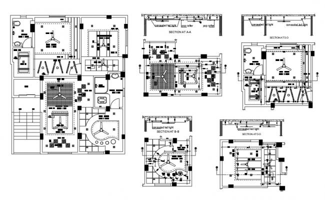 House Ceiling Plan In AutoCAD File