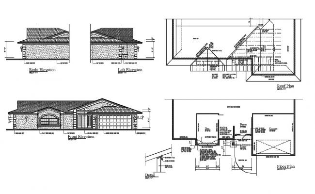 House Construction CAD Drawing