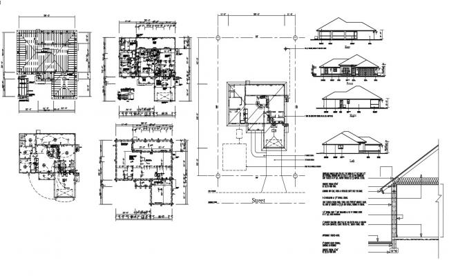 House Construction Design AutoCAD Drawing