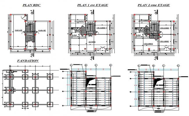 House Construction Plan CAD Drawing