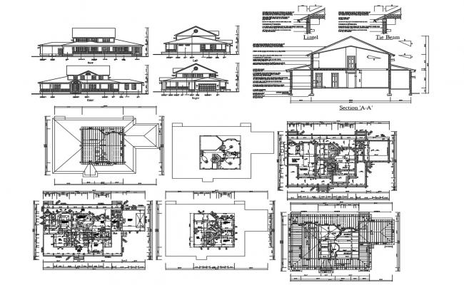 House Construction Project Design AutoCAD File