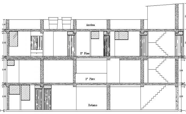 House Design and Elevation Plan dwg file