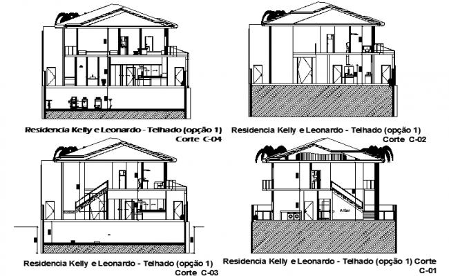 House Design dwg file.