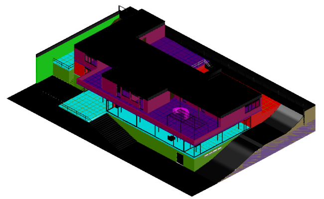 House Design in 3d view