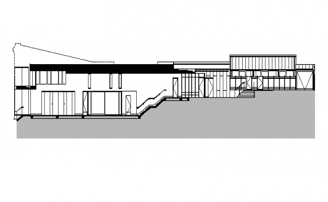 House Design with Elevation and Plan dwg file