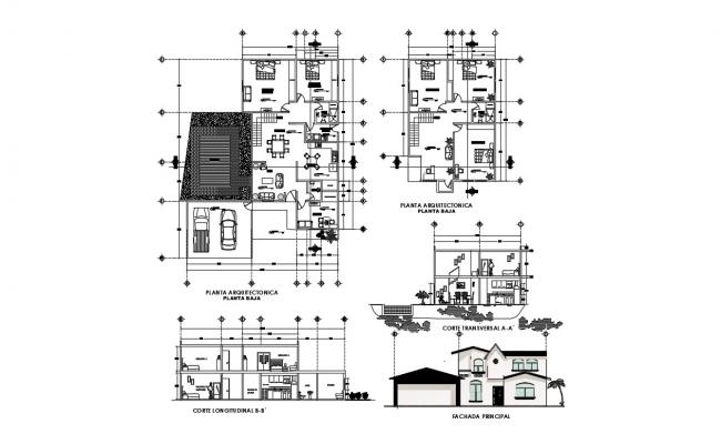 House Designs Plans In AutoCAD File