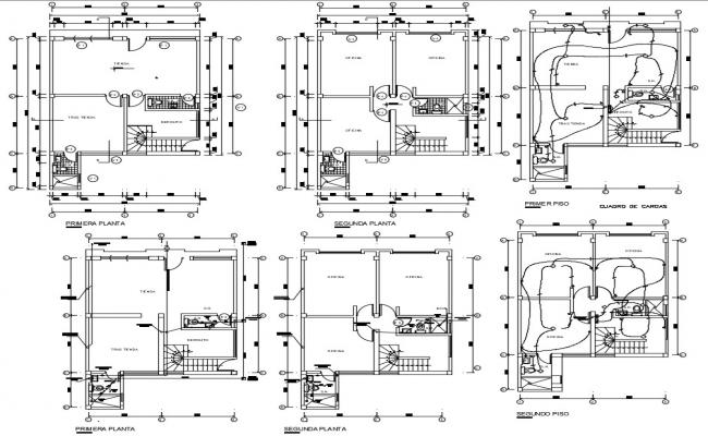 House Electrical Wiring Plan DWG File