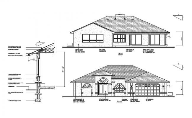 House Elevation AutoCAD Drawing