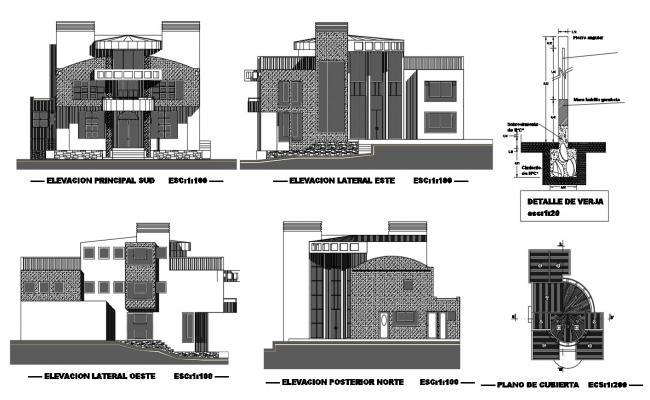 House Elevation CAD Design Plan