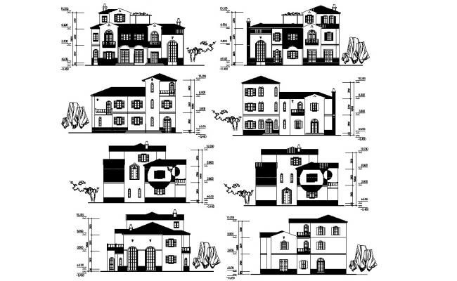 House Elevation CAD Drawing