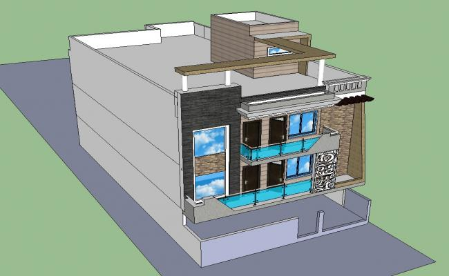 Sketchup 3d House Design
