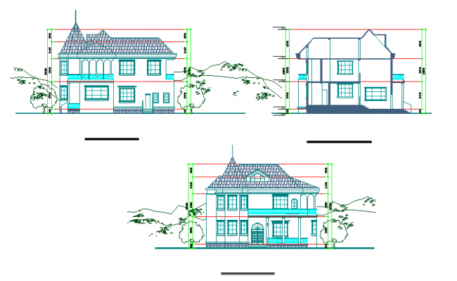 House Elevation Detail & Side view design
