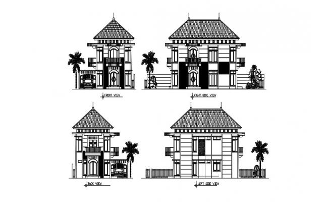 House Elevation In DWG File