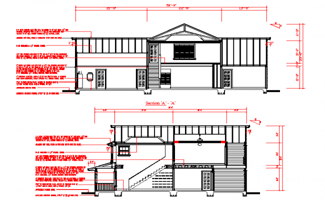 House Section detail in autocad