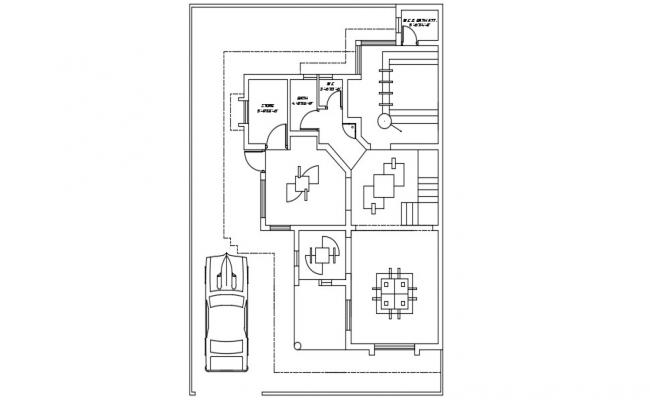 House False Ceiling Plan AutoCAD Drawing