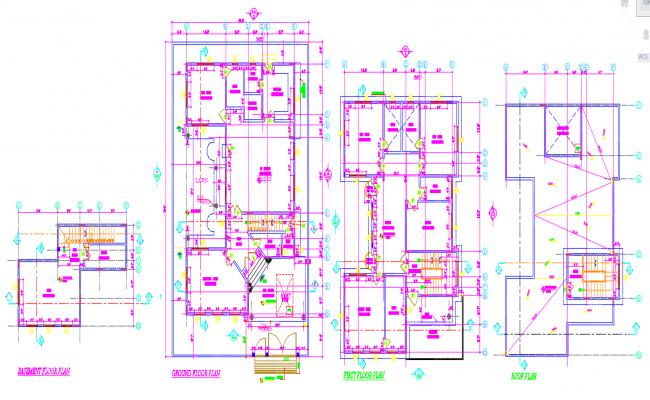 House Floor Cad Plan