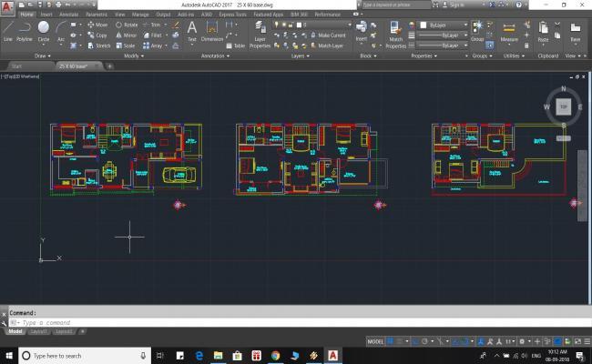 House Floor Plan 25' X 60'