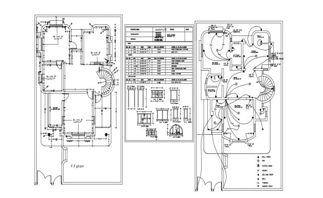 House Floor Plan CAD Drawing