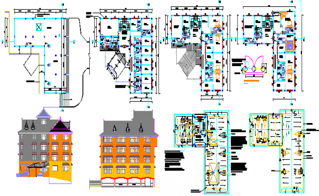 House For tourists DWG file