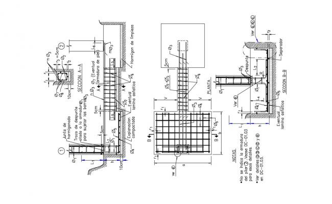 House Foundation Plan In AutoCAD File