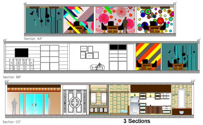 House Interior Design DWG File