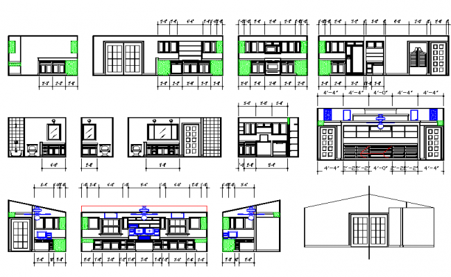 House Interior Design in Autocad file