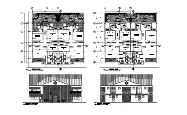 House Layout Design In DWG File