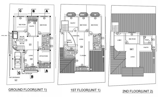 House Layout Plan AutoCAD File