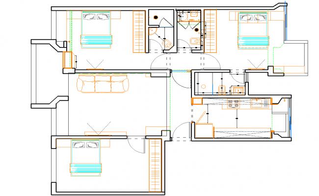 House Layout plan detail