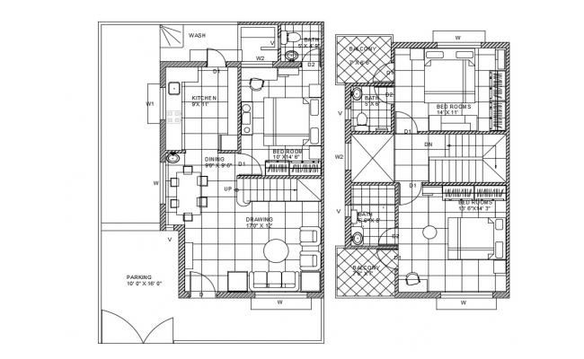 House Plan CAD Drawing DWG