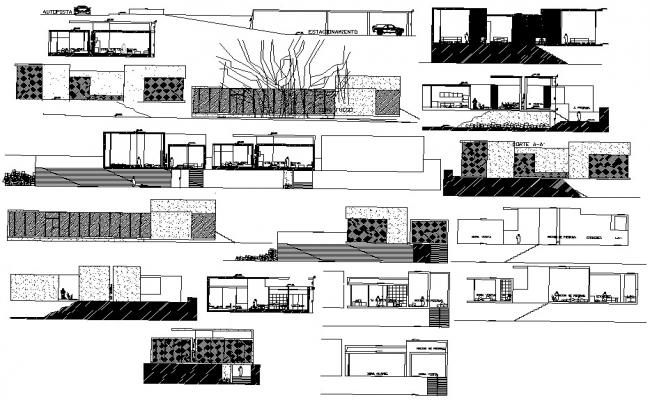 House Plan Section And Elevation DWG File