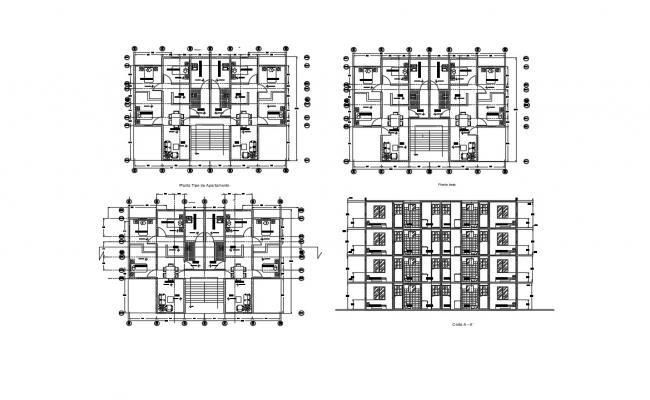 House Plans With Apartment In AutoCAD File