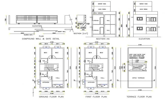 House Plans With Dimensions DWG File