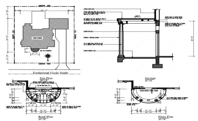 House Porch Design AutoCAD File