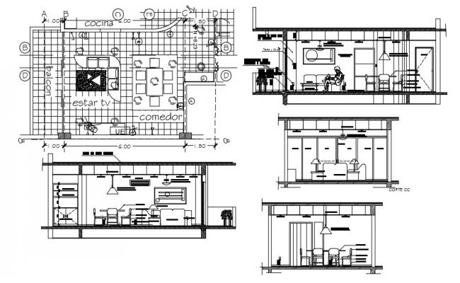House Project In AutoCAD File