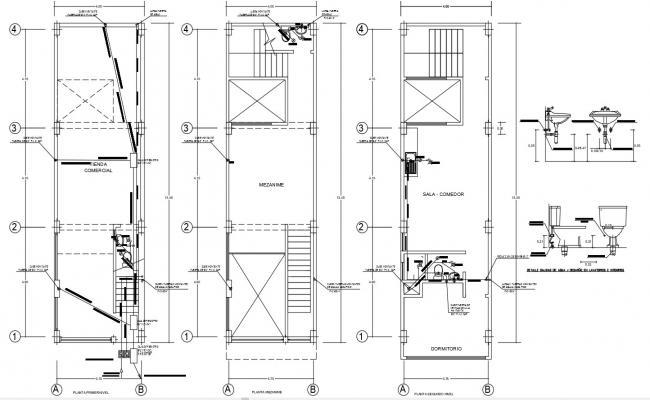 House Sanitary Plumbing Installation DWG File
