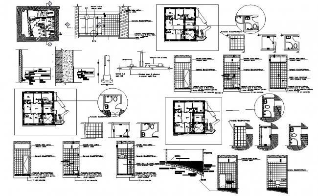 House Sanitary installation plan