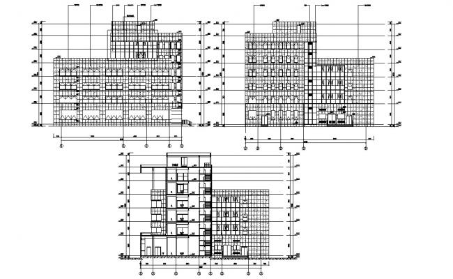 House Section And Elevation Drawing DWG File