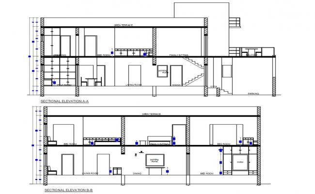House Section AutoCAD File