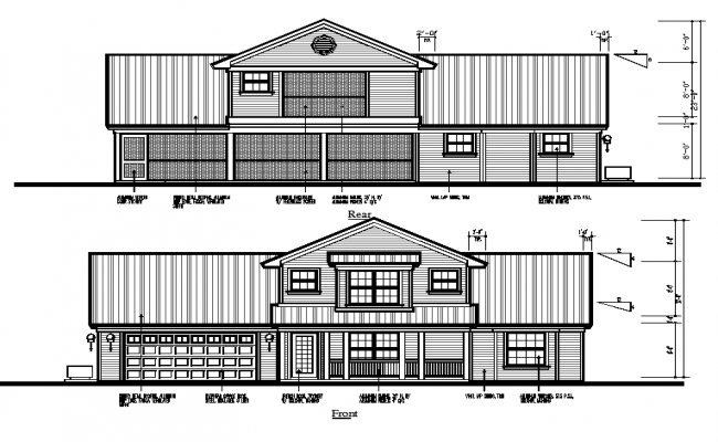 House Section DWG File