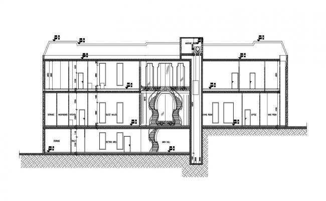 House Section Detail DWG File Download